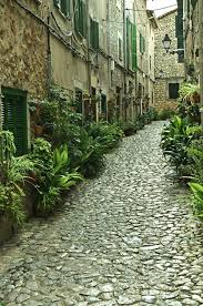 cobbled paths